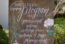 Wedding + Signage