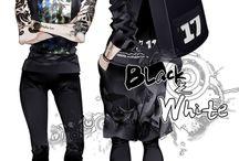 Anime and manga black and white