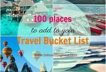 Travel Bucket List / Travel Bucket List Ideas