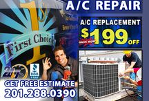 Commercial Air Conditioning Repair in NJ / 1st Choice Plumbing, Heating and Air Conditioning specializes in commercial air conditioning repair in NJ. As a fully insured, licensed and air conditioning company, we have to knowledge and expertise to efficiently repair the air conditioner in your office, warehouse or retail store.
