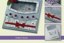 CraftEmotions Stanzschablone Merci Box