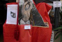 Festa di San Sebastiano, Castel Gandolfo / Festa del Santo patrono di Castel Gandolfo, San Sebastiano Martire. Immagine di San Sebastiano Martire di Guido Reni, dipinta a mano su pietra. Immagine originale dipinta su tela esposta alla devozione dei fedeli nella chiesa di San Tommaso da Villanova, sostituita oggi con un busto di bronzo contenente le Sacre Reliquie.