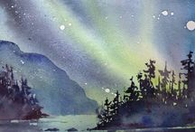 Norrsken Akvarell