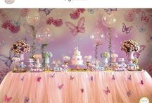 Fairy party cake table