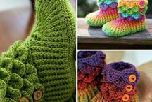 Crochet and fabric shoes to make