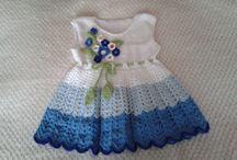 rochiță alb albastru