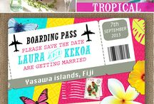 Invitations: Travel themed wedding stationery - LoveLuxe Blog