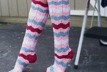 crochet knee high socks