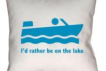 Lake Throw Pillows