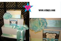 Tiffany Theme- Tiffany Blue Wedding / This collection is about everything you want, dream about and need at your wedding. You can find unique wedding gifts, wedding cups, wedding gift boxes, even wedding invitations. Everything in this section is custom made to order. Create your dream wedding with Eshays.