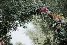 Bright flowers wedding