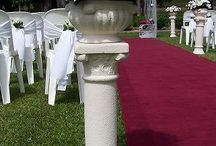 Pedestals Used at Weddings / Using Pedestals for a wedding alter area