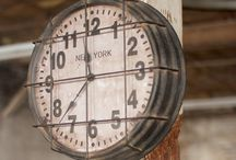 Industrial Style Clocks / Gorgeous Industrial Style Clocks and how to style them! To shop one of our own, visit https://www.bitsofvintage.com/metal-industrial-clock.html