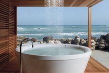 Outdoor Bathtub Design Collection / Elevation brings to you innovative style to freshen up..!!! #ArtAndDesign  #Bedroom #InteriorDesign #Design #HomeDecor  #InteriorDesign #Kitchen #HomeDesign #InteriorDesigners#Modern #InteriorDecorating
