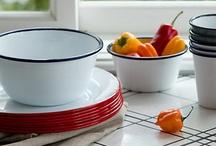 Tableware, enamelware, dinnerwear, flatwear, cooking tools