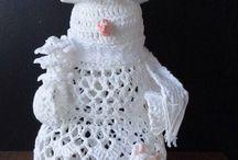 hóember horgolva karácsonyra