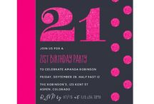 21st Birthday Party Hot-Pink glitter suite / Pink and dark grey Woman's 21st Birthday package customizable to your specifics.