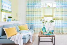 Textilní dekorace, závěsy a rolety