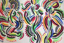 Les ballet girls ❤️ par Alexandrine C. / Les ballet girls sont mes super nanas, colorées ou black and white, rondouillettes ou finettes, toujours en mouvement, respectant les sublimes et exigeantes lignes de la danse classique, tout en assumant leurs courbes féminines... Peintures a l huile, posca, ou encore stylo billes ;)  #alexandrinecomte #lesballetgirls