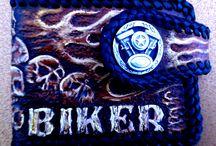 """""""Crazy Biker"""" Small Wallet"""