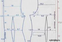 oděvní střihy / střihy a šití  oblečení