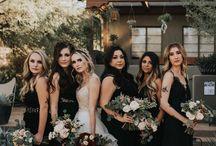 Black themed wedding