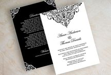 Formal Invites and Centre Pieces