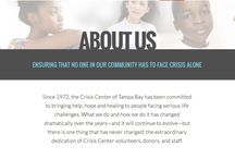 Get to Know Us! / Get to know the mission, vision, and values of the Crisis Center of Tampa Bay!