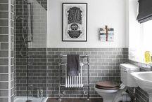 Koupel - drevena podlaha