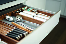 Kitchen drawer organization / The StraightLine MosaiQ organization system brings design and function to your drawers and pullouts.