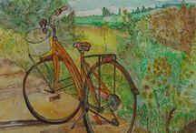 ARTE en Enuniquepiece / 10 Toscany Drawings  Acquarelle su lienzo 60 cm x 45 cm.
