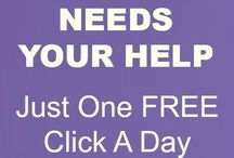 """PLEASE Help with a Click"" / PLEASE go to www.AnimalRescueSite.com and sign up for a Friendly Daily Reminder to click for free food.  It only takes about 10 seconds a day…the least we can do to help."