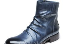 Mens Leather Boots / Designer Leather Boots, Ankle Boots, fashion dress boots for men.