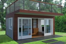 Backyard Office / This is a backyard office design with a roof deck. By Fontan Architecture