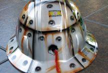 Airbrushing helm