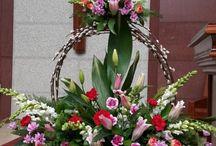 diagonal flower
