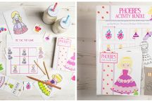 Activity Bundles / Our activity bundles include a whole heap of fun activities designed to keep little ones busy and the cute characters are sure to bring a smile. Perfect for those rainy days stuck indoors, ideal to take away on travels or to add to reward boxes for good behaviour and being personalised, make the most loveliest of birthday gifts too.