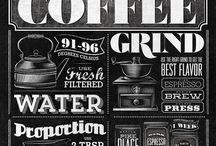 Coffee Typography / Do you like beautiful menu signs ? We love it))