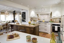Dream Kitchen / My dream kitchen is white and bright with warm wood tone accents on the floor and around the room. I love barstools and banquets make me swoon.  / by Paper Daisy Design