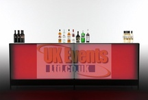 LED Cocktail Bars / Our Exciting and very bright LED Bars are perfect for any function. With 1.5m Straight and Curved sections, we can achieve a range of bar designs, including a semi-circular bar and a circular bar with a 4m diameter.  These bars will light up the room with a range of static colours and colour change sequences available.