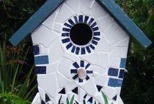 mozaiek vogelhuisje
