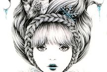 ILLUSTRATIONS / art, illustrations, artist, watercolor, inspiration, handmade, draw