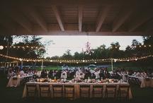{Backyard Wedding Reception Inspiration}