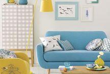 MULTICOLORED INTERIOR / Using color in the interior. Rule 60%, 30% and 10%. More here: http://barborarosalie.blogspot.cz/2015/03/barvy-v-interieru-vicebarevny-prostor.html