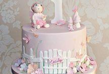 Fairy garden cakes
