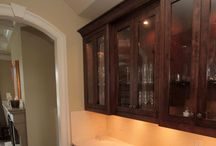 Custom Butlers Pantry / We design & build custom inset  cabinets for homeowners across Canada & the USA.  www.wesleyellen.ca   1.888.309.0616