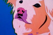 Premiere Custom Pet Portrait Paintings by BZTAT / Premiere custom pet portrait paintings by Artist BZTAT. Colorful and contemporary portrait paintings of dogs and cats and other companion animals.