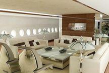 Private Jet interiors / Luxury Private Jet interiors