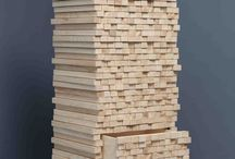 Stacked Wood Furniture