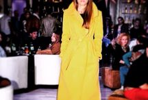 Wraparound coat / #yellow#fashionblog